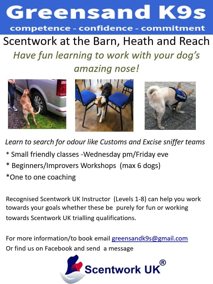 Scentwork at the Barn Poster